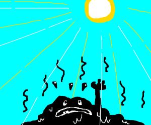 Tar Monster Melts in Sunlight