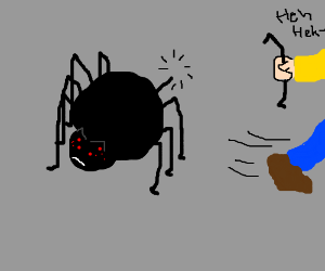 Someone stole that spider's leg!