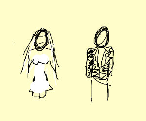 two people married but maybe not to each other