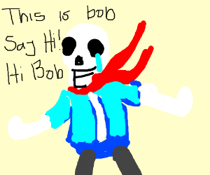 Disbelief Bob (This is bob + Disbelief papyrus - Drawception