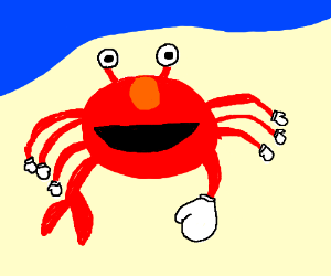 elmo crab with boxing gloves drawing by lenca drawception