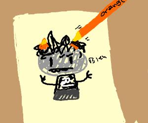 Crude drawing of Homestuck character
