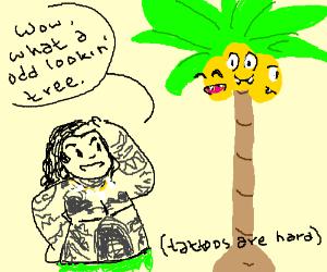 Maui mistakes Alolan Exeggutor for a tree