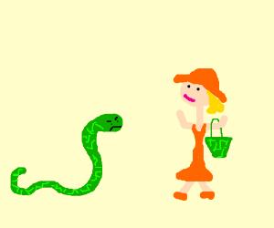 Snake expresses dismay to human