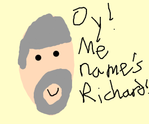 A very mature drawing of Richard