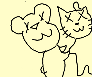 Tom and Jerry dies together - Drawception