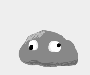 rock with googly eyes drawing by emmicon drawception