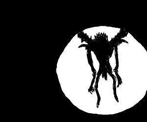 Ryuk standing in the moonlight