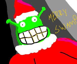 Shrek Christmas.A Very Shrek Christmas Drawception