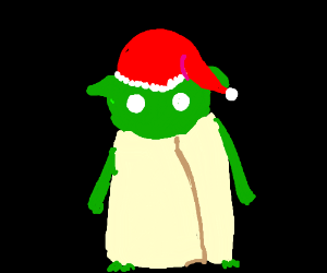 Yoda is santa today! or forever.