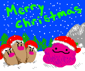 Merry Christmas from Dugtrio and Ditto!