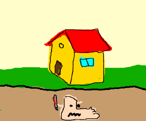 evil foot lives under your house