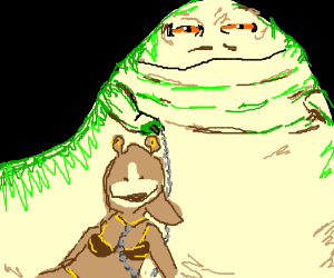 Before there was Leia, Jabba had Jar Jar