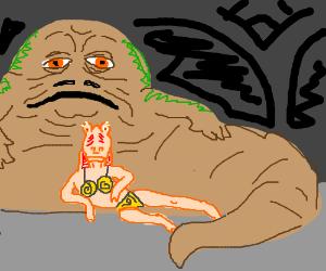 Jar Jar is Jabba's slave