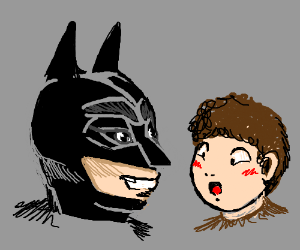 batman is face to face with child
