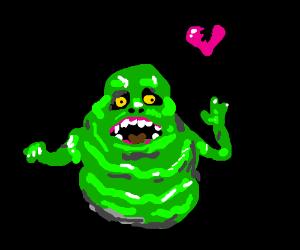 Slimer has broken heart