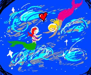 Lesbian Mermaids IN SPACE!!!!!!!