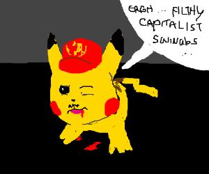 Communist Pikachu meets his maker