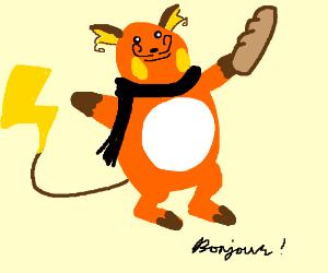 french pikachu evolves