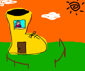 Old Woman who lives in a Shoe is frugal