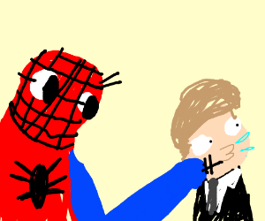 spoderman slaps andy garfield for being so bad