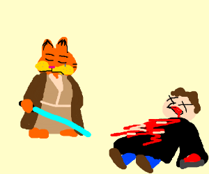Jedi Garfield skinned Jon Arbuckle