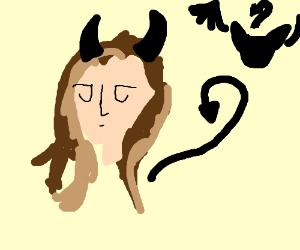 Little devil girl