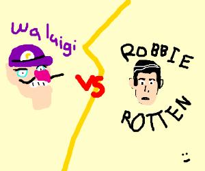 Waluigi vs. Robbie Rotten