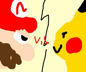 Mario vs pikachu