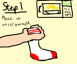 How to microwave socks the right way!