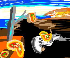 Dali's melting pizzas