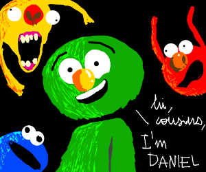 Elmo's normal couwin, Daniel