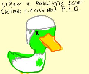 Realistic Scoot ( Animal Crossing) PIO