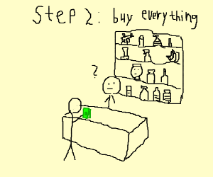 Step 1: Go to the store