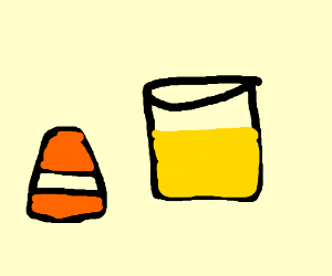 Candy corn and lemonade