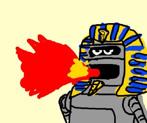 Pharaoh Bender breathes fire