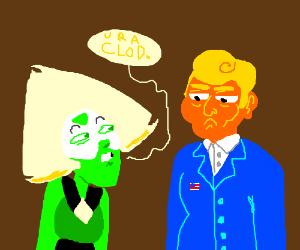 Peridot calls Trump a clod
