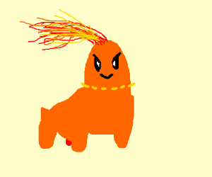 Fire type Chikorita (Pokemon)