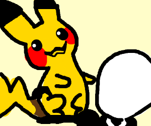 Pikachu catches slenderman