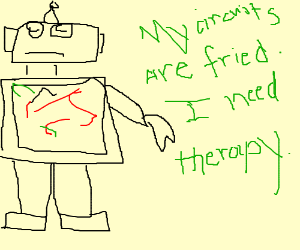Robot in need of theropy
