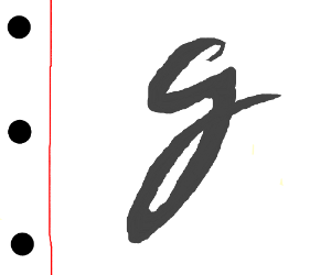 The Letter G In A Lowercase Cursive Format