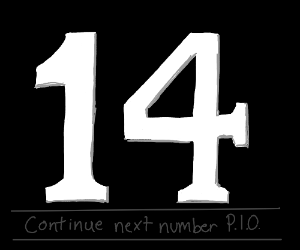 13 Continue next number PIO