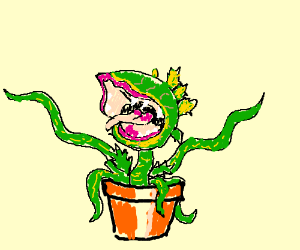 Cute flytrap wants to be fed by Seymour