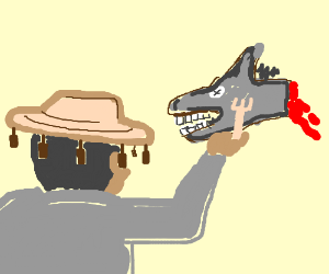 Australian man eats donkey head