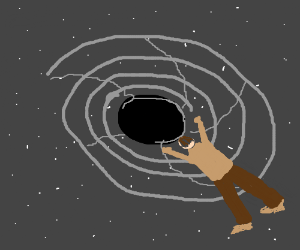 Man falls into blackhole