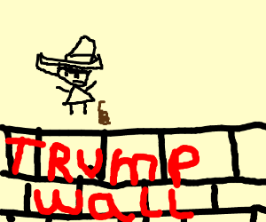 Mexicans using trump wall as a Bathroom