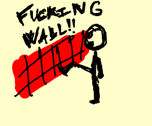 Guy vandalizing a wall