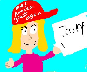 "A female, she is happy that Trump got elecred"""