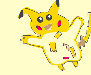 A horribly disfigured pikachu