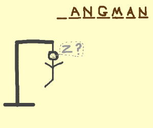 Hanged man wants to lose the game